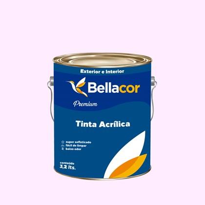 Tinta Acrílica Acetinado Premium A074 Rosa Neutro 3,2L Bellacor