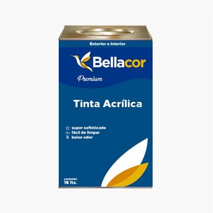 Tinta Acrílica Acetinado Premium A13 Lua de Cristal 16L Bellacor