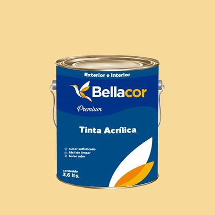 Tinta Acrílica Acetinado Premium A30 Amarelo 3,2L Bellacor
