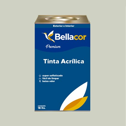 Tinta Acrílica Acetinado Premium A48 Verde Água 16L Bellacor