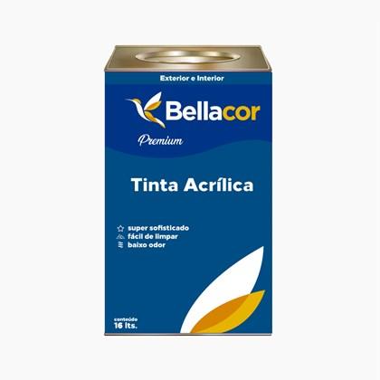 Tinta Acrílica Acetinado Premium A49 Pó de Arroz 16L Bellacor