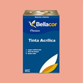Tinta Acrílica Acetinado Premium A54 Creme de Pitanga 16L Bellacor