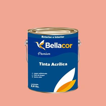 Tinta Acrílica Acetinado Premium A54 Creme de Pitanga 3,2L Bellacor