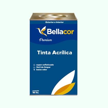Tinta Acrílica Acetinado Premium A58 Verde Lago 16L Bellacor