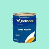 Tinta Acrílica Acetinado Premium A62 Verde Paraíso 3,2L Bellacor