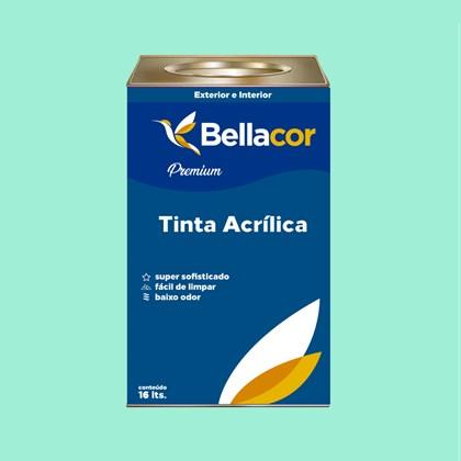 Tinta Acrílica Acetinado Premium A63 Verde Paradisíaco 16L Bellacor