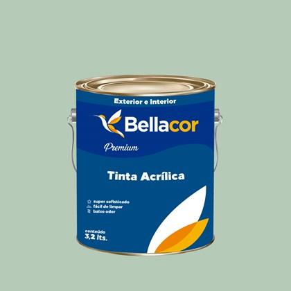 Tinta Acrílica Acetinado Premium A69 Verde Claro 3,2L Bellacor