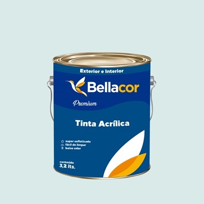 Tinta Acrílica Acetinado Premium A73 Verde Havaí 3,2L Bellacor