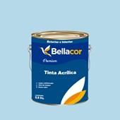 Tinta Acrílica Acetinado Premium A77 Azul Correnteza 3,2L Bellacor