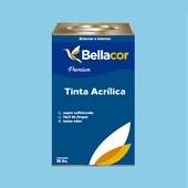 Tinta Acrílica Acetinado Premium A78 Azul Chiffon 16L Bellacor