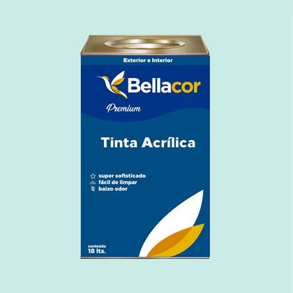 Tinta Acrílica Acetinado Premium A79 Azul Bebê 16L Bellacor
