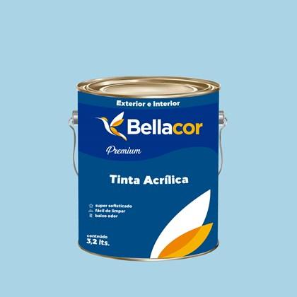 Tinta Acrílica Acetinado Premium A84 Azul Francia 3,2L Bellacor