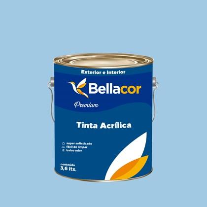 Tinta Acrílica Acetinado Premium A90 Azul Maya 3,2L Bellacor