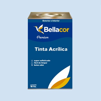 Tinta Acrílica Acetinado Premium A92 Dia de Chuva 16L Bellacor