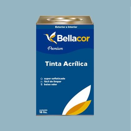 Tinta Acrílica Acetinado Premium A93 Azul Raf 16L Bellacor