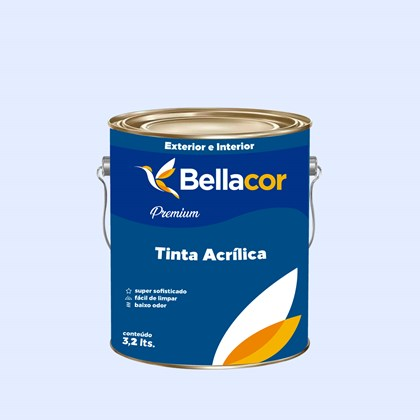 Tinta Acrílica Acetinado Premium A99 Tarde de Chuva 3,2L Bellacor