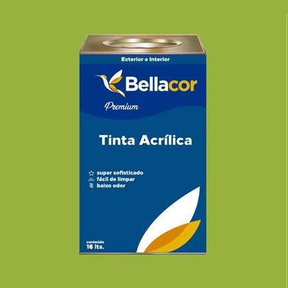 Tinta Acrílica Acetinado Premium B07 Verde Kiwi 16L Bellacor