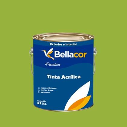 Tinta Acrílica Acetinado Premium B07 Verde Kiwi 3,2L Bellacor