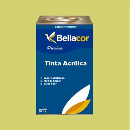 Tinta Acrílica Acetinado Premium B09 Verde Lima 16L Bellacor