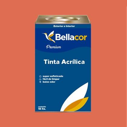 Tinta Acrílica Acetinado Premium B17 Vermelho Fogueira 16L Bellacor