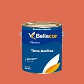 Tinta Acrílica Acetinado Premium B17 Vermelho Fogueira 3,2L Bellacor