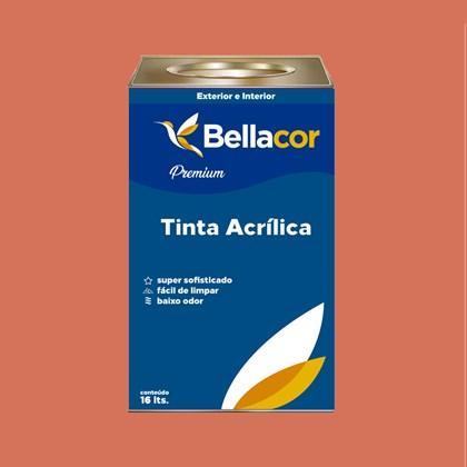 Tinta Acrílica Acetinado Premium B18 Acerola 16L Bellacor