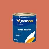 Tinta Acrílica Acetinado Premium B18 Acerola 3,2L Bellacor