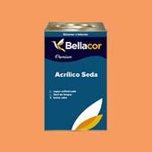 Tinta Acrílica Acetinado Premium B30 Laranja Claro 16L Bellacor