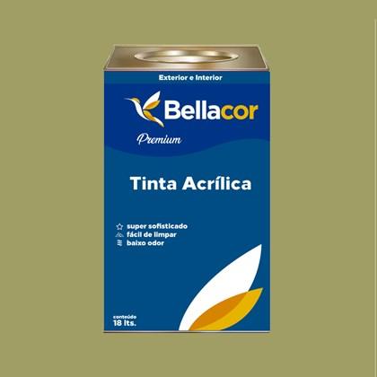 Tinta Acrílica Acetinado Premium B32 Verde Caule 16L Bellacor