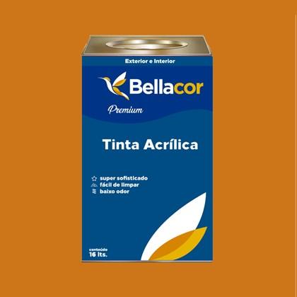 Tinta Acrílica Acetinado Premium B41 Dourado 16L Bellacor