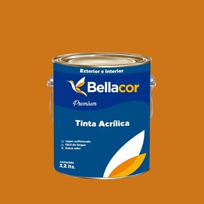 Tinta Acrílica Acetinado Premium B41 Dourado 3,2L Bellacor