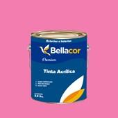 Tinta Acrílica Acetinado Premium B50 Rosa Flory 3,2L Bellacor