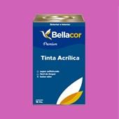 Tinta Acrílica Acetinado Premium B51 Rosa Pink 16L Bellacor