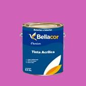 Tinta Acrílica Acetinado Premium B51 Rosa Pink 3,2L Bellacor