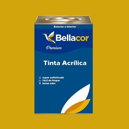 Tinta Acrílica Acetinado Premium B52 Amarelo Dourado 16L Bellacor