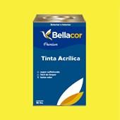 Tinta Acrílica Acetinado Premium B53 Amarelo Animado 16L Bellacor