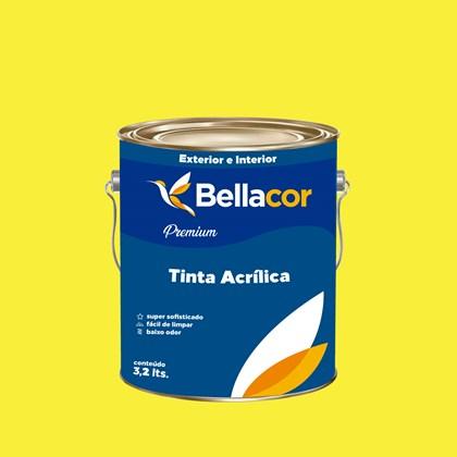 Tinta Acrílica Acetinado Premium B53 Amarelo Animado 3,2L Bellacor