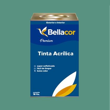Tinta Acrílica Acetinado Premium B56 Mergulho Verde 16L Bellacor