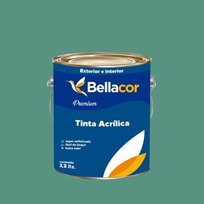Tinta Acrílica Acetinado Premium B56 Mergulho Verde 3,2L Bellacor