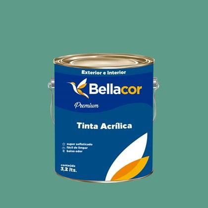 Tinta Acrílica Acetinado Premium B57 Verde Encantado 3,2L Bellacor