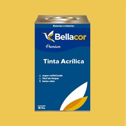 Tinta Acrílica Acetinado Premium B65 Mostarda Americana 16L Bellacor