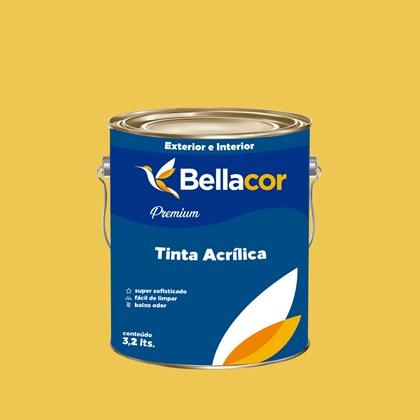 Tinta Acrílica Acetinado Premium B65 Mostarda Americana 3,2L Bellacor