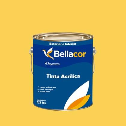 Tinta Acrílica Acetinado Premium B66 Mostarda 3,2L Bellacor