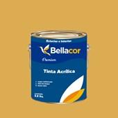 Tinta Acrílica Acetinado Premium B77 Mostarda Francesa 3,2L Bellacor