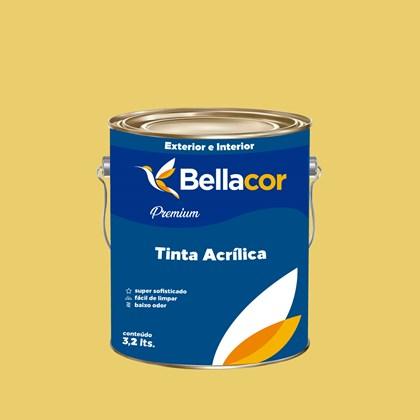 Tinta Acrílica Acetinado Premium B78 Deserto 3,2L Bellacor