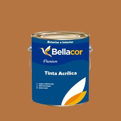 Tinta Acrílica Acetinado Premium B90 Doce de Leite 3,2L Bellacor