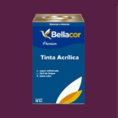Tinta Acrílica Acetinado Premium C01 Creme de Ameixa 16L Bellacor