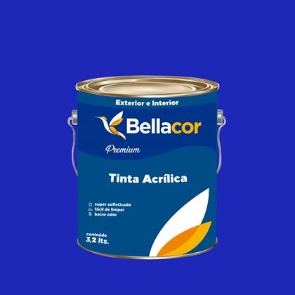 Tinta Acrílica Acetinado Premium C11 Azul Safira 3,2L Bellacor