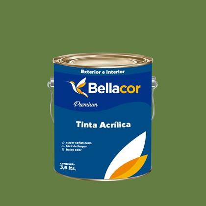 Tinta Acrílica Acetinado Premium C19 Verde Jacaré 3,2L Bellacor