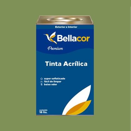 Tinta Acrílica Acetinado Premium C20 Verde Pasto 16L Bellacor
